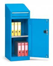 FAA011001 - PERFOM típusú szekrény szárnyas ajtóval és kiegészítőkkel írófelülettel - EH=24X27 1 fiókkal - DIM. MM W=512 D=555 H=1270