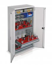 FAA140019 - PERFOM típusú szekrény szárnyas ajtóval és kiegészítőkkel szerszámtartók nélkül 2 fiókkal - DIM. MM W=1023 D=555 H=2000