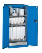 FAE805805 - STANDARD típusú olajtároló szekrény szárnyas ajtókkal kiegészítőkkel - DIM. MM W=717 D=750 H=1450