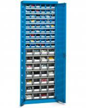 FAK108052 - PERFOM típusú szekrény szárnyas ajtókkal és tárolókkal - DIM. MM W=700 D=270 H=2000