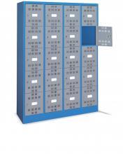 FAM104501 - PERFOM típusú értéktároló szekrény tartozékokkal - DIM. MM W=1195 D=500 H=1750 - Szín: kék + szürke RAL5012+RAL7000