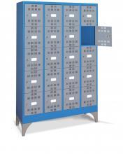 FAM104507 - PERFOM típusú értéktároló szekrény tartozékokkal - DIM. MM W=1195 D=500 H=1950 - Szín: kék + szürke RAL5012+RAL7000