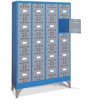 FAM104517 - PERFOM típusú értéktároló szekrény tartozékokkal - DIM. MM W=1195 D=500 H=1950 - Szín: kék + szürke RAL5012+RAL7000