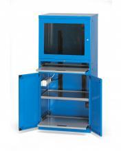 FAS160122 - FAS számítógép szekrény 1 ventilátorral 2 SCHUKO dugalj és 3 FR - DIM. MM W=717 D=635 H=1560
