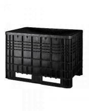 FPT594000 - Műanyag konténer csúszótalppal újrahasznosított alapanyagból- DIM. MM W=1165 D=790 H=800 - Szín: fekete